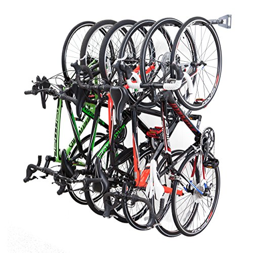 Free Storage System Track - Monkey Bars Bike Storage Racks - Store Up To 6 Bikes - 200lb Weight Capacity