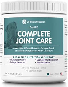 Dr. Bill's Canine Complete Joint Care Pet Supplement - Advanced Hip & Joint Supplement for Dogs - Supplement for Dogs with Arthritis