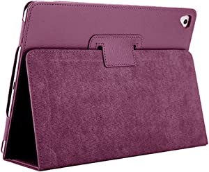 """iPad Air 2 Case,2018/2017 9.7 iPad/Cover,FANSONG Bifold Series Litchi Stria Slim Thin Magnetic PU Leather Smart Cover [Flip Stand,Sleep Function] Universal for Apple iPad Air/Air 2/Pro(9.7""""), Purple"""