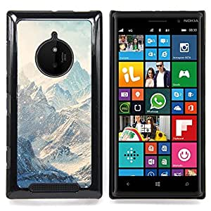 For Nokia Lumia 830 - Mountains Snow Winter Clouds White Case Cover Protection Design Ultra Slim Snap on Hard Plastic - God Garden -