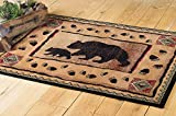Black Bear Walking Lodge Rug – 2 x 3 – Rustic Decor Review