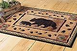 Black Bear Walking Lodge Rug - 2 x 3 - Rustic Decor