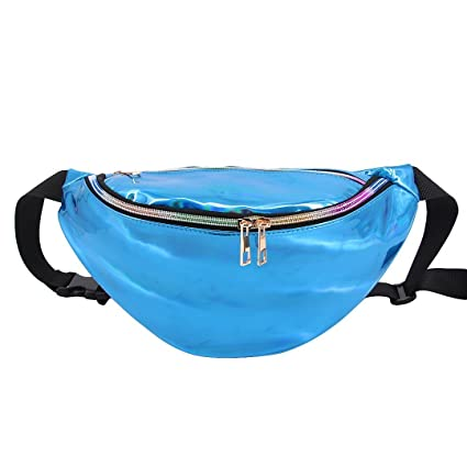 d8baff05b757 C.C-US Waterproof Holographic Waist Bag Crossbody Shoulder Bag Rainbow  Chest Bag Fanny Pack Sport Bum Bag