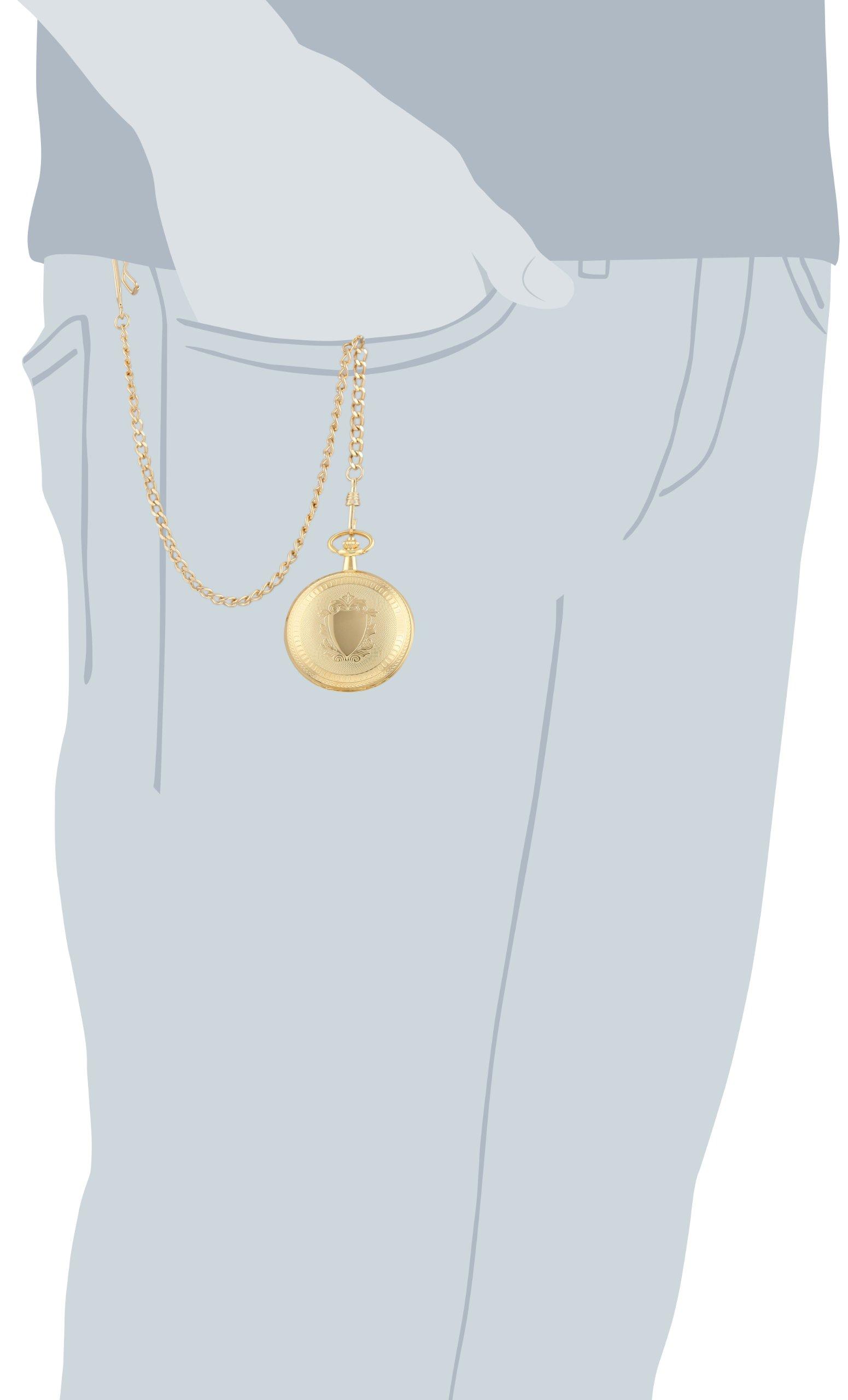 Charles-Hubert, Paris 3556 Gold-Plated Mechanical Pocket Watch by CHARLES-HUBERT PARIS (Image #4)