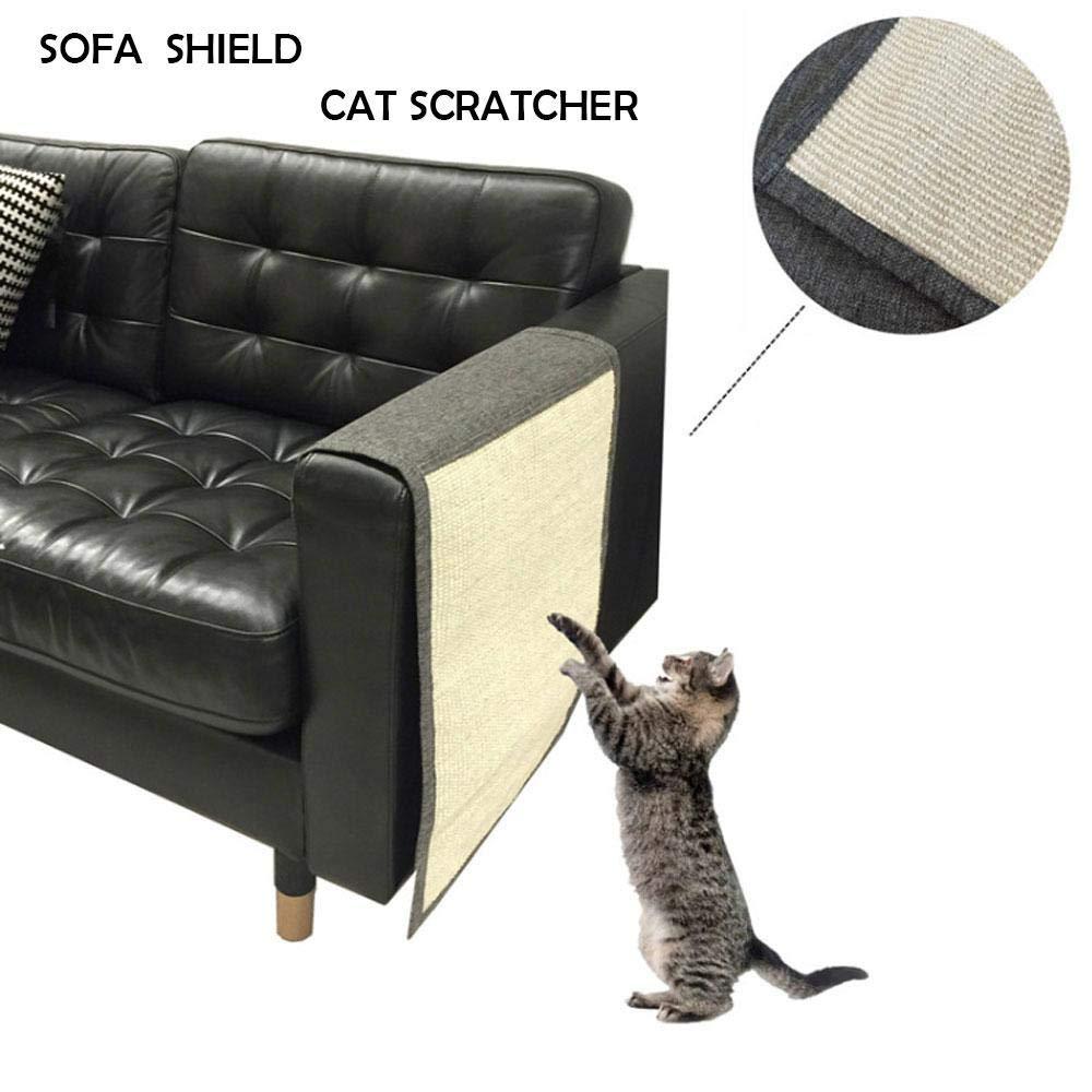 KOBWA Protector de sofá antiarañazos, Estera de arañazo de gato Sofá de sisal Shield Couch Protector de arañazos Scratcher de gato para proteger sus ...