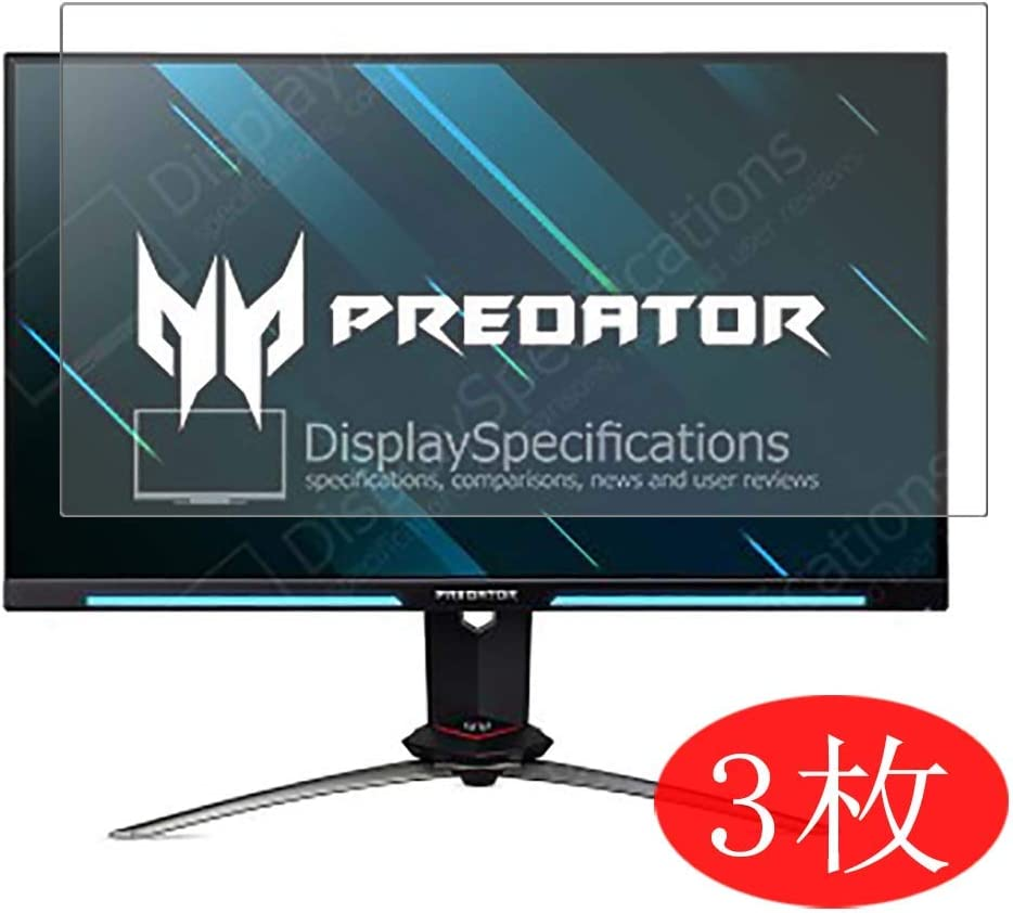 """[3 Pack] Synvy Screen Protector Compatible with Acer Predator XB273U GX / XB273UGX 27"""" Display Monitor TPU HD Film Protectors [Not Tempered Glass]"""