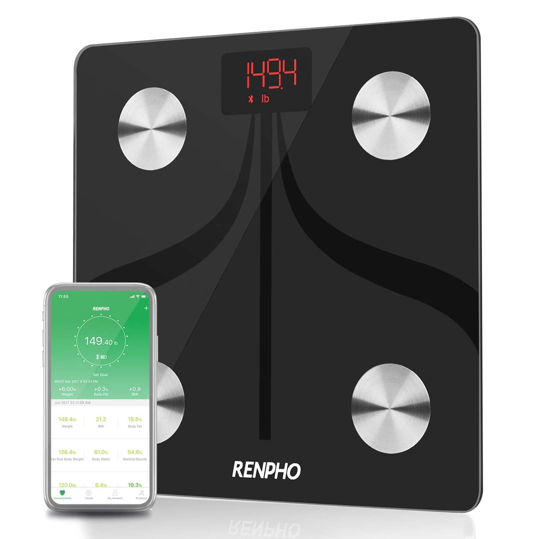 RENPHO Bluetooth体脂肪計USB充電式スマートデジタルバスルーム体重計iOSおよびAndroidアプリワイヤレスBMI体重計 RENPHO、体重 B079DQ7JK6、BMI、水、筋肉量 B079DQ7JK6, アイエスマート:04cef9bf --- arvoreazul.com.br