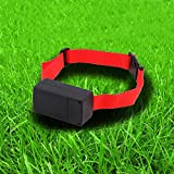Non Barking Collar Electronic Shock Control Dog Bark Terminator Is Controlled by a Microprocessor Giving Your Pet Plenty of Warning Before It Becomes Painful Unique Pattern Adjustable Red Orange