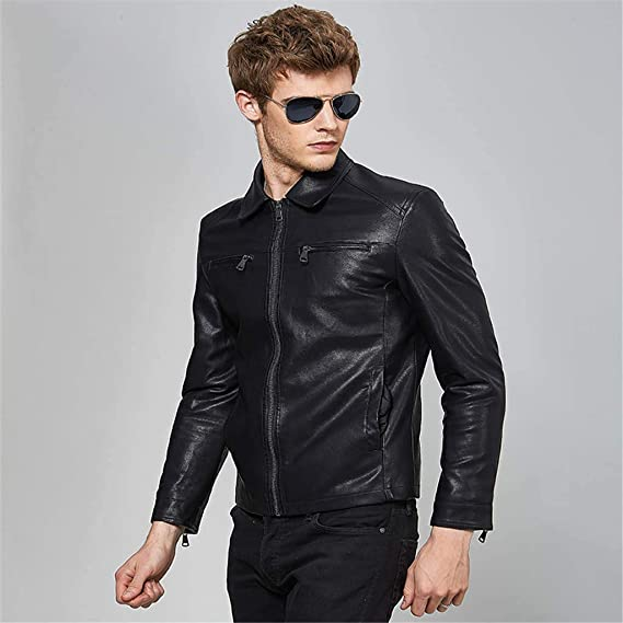 style_dress Veste Cuir Homme Marron, T Shirt, Pull Polaire