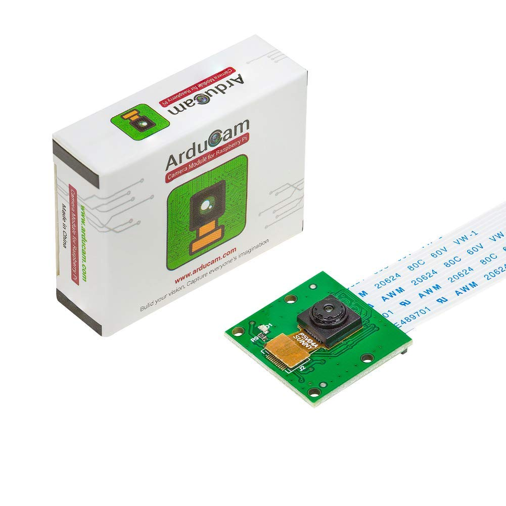 Arducam 5 Megapixels 1080p Sensor OV5647 Mini Camera Video Module for  Raspberry Pi Model A/B/B+, Pi 2 and Raspberry Pi 3,3B+, Pi 4