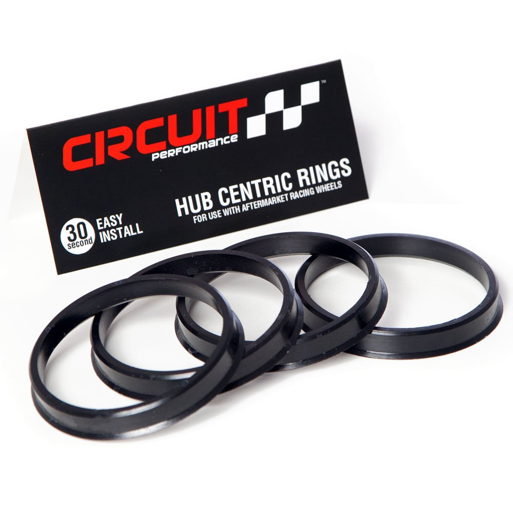72.56mm OD to 67.1mm ID Circuit Performance Black Plastic Polycarbonate Hub Centric Rings
