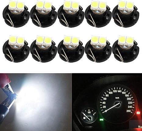 Aerzetix 2x ampoule T5 12V LED SMD blanc pour tableau de bord