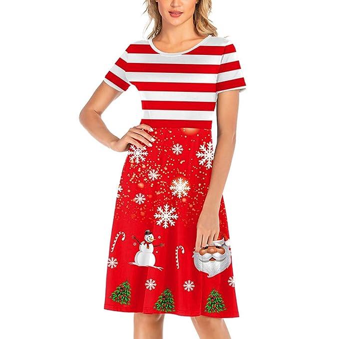 CLOOM Vestidos Rojos De Fiesta Vestido Navidad Mujer Vestido De ...