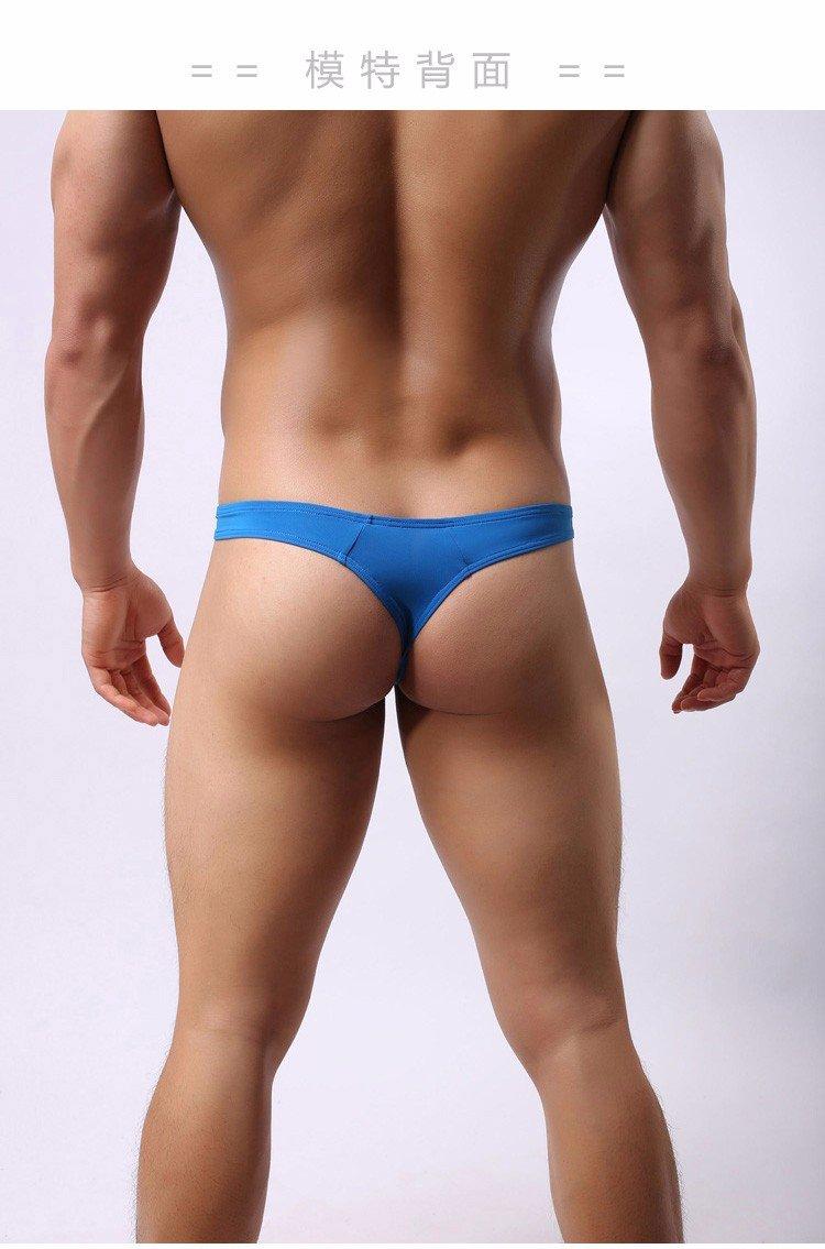 XiaoGao/_ gli uomini puri mutande sotto u una borsa di elastico pantaloni attillati convesso t seta regolare natiche tanga