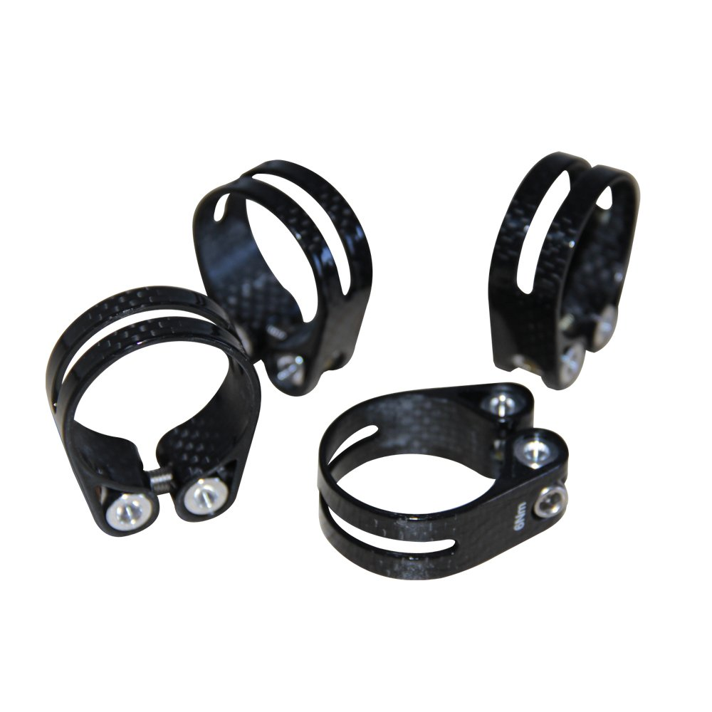 Carbon Fiber Road Bike Mountain Bicycle Seat Post Clamp 31.8 mm Black