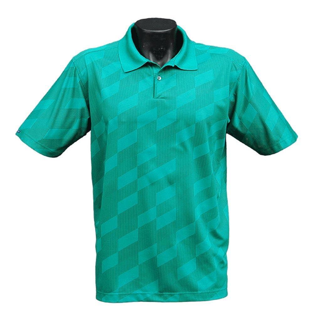 Bermuda Sands Mens Polo Prints Maze 830 Golf Shirt Jade Size