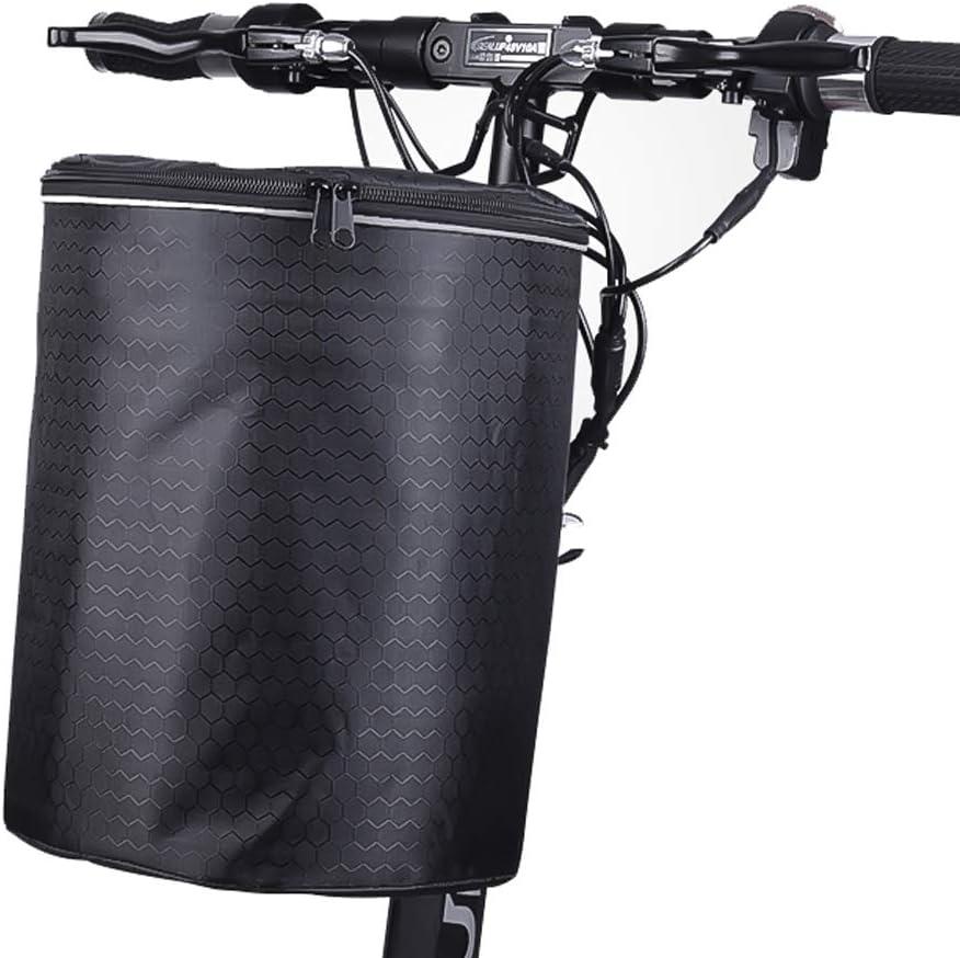 SqSYqz Bicicleta Eléctrica Cesta Delantera Cesta De Lona Bicicleta ...
