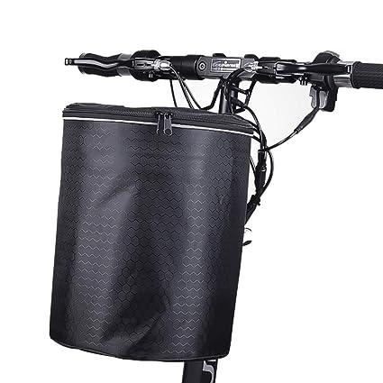 SqSYqz Bicicleta Eléctrica Cesta Delantera Cesta De Lona ...