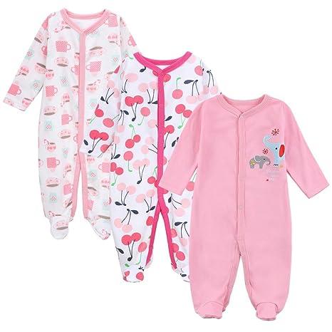 Busymom - Conjunto de 3 pijama de manga larga para recién nacido XTBJP16010304P Talla:0