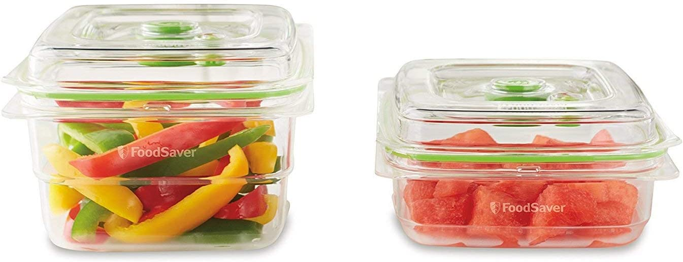 Foodsaver FFC015X Fresh Container 2-Piece Combo Pack, Clear