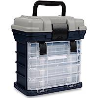 Sougayilang Fishing Tackle Box Portable 4 Layers Fishing Box Sea Boat Fishing Accessory Box Case With Handle Utility Box…
