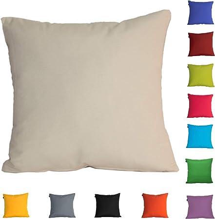DHestia Pack x 2 Fundas Cojines Decoración Sofá y Cama 45x45 cm Loneta Colores (Arena/Sand), 45 x 45 cm: Amazon.es: Hogar