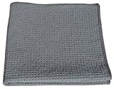 HoneyComb Microfiber Glass Cleaning Cloths 16x16 - Gray Case of 204