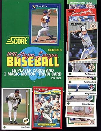 1991 Score Baseball Set Wax Pack Box Series 1 Factory Sealed