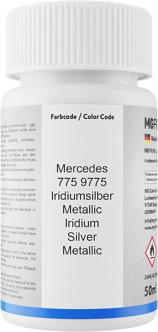 Mg Prime Autolack Lackstift Set Für Mercedes 775 9775 Iridiumsilber Metallic Iridium Silver Metallic Basislack Klarlack Je 50ml Auto