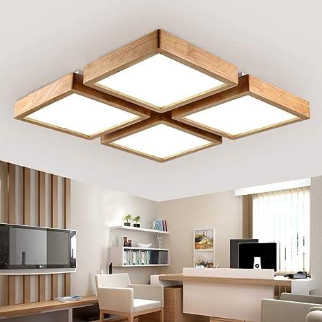 Leohome Fruta de madera Iluminación de techo LED Lámparas de ...