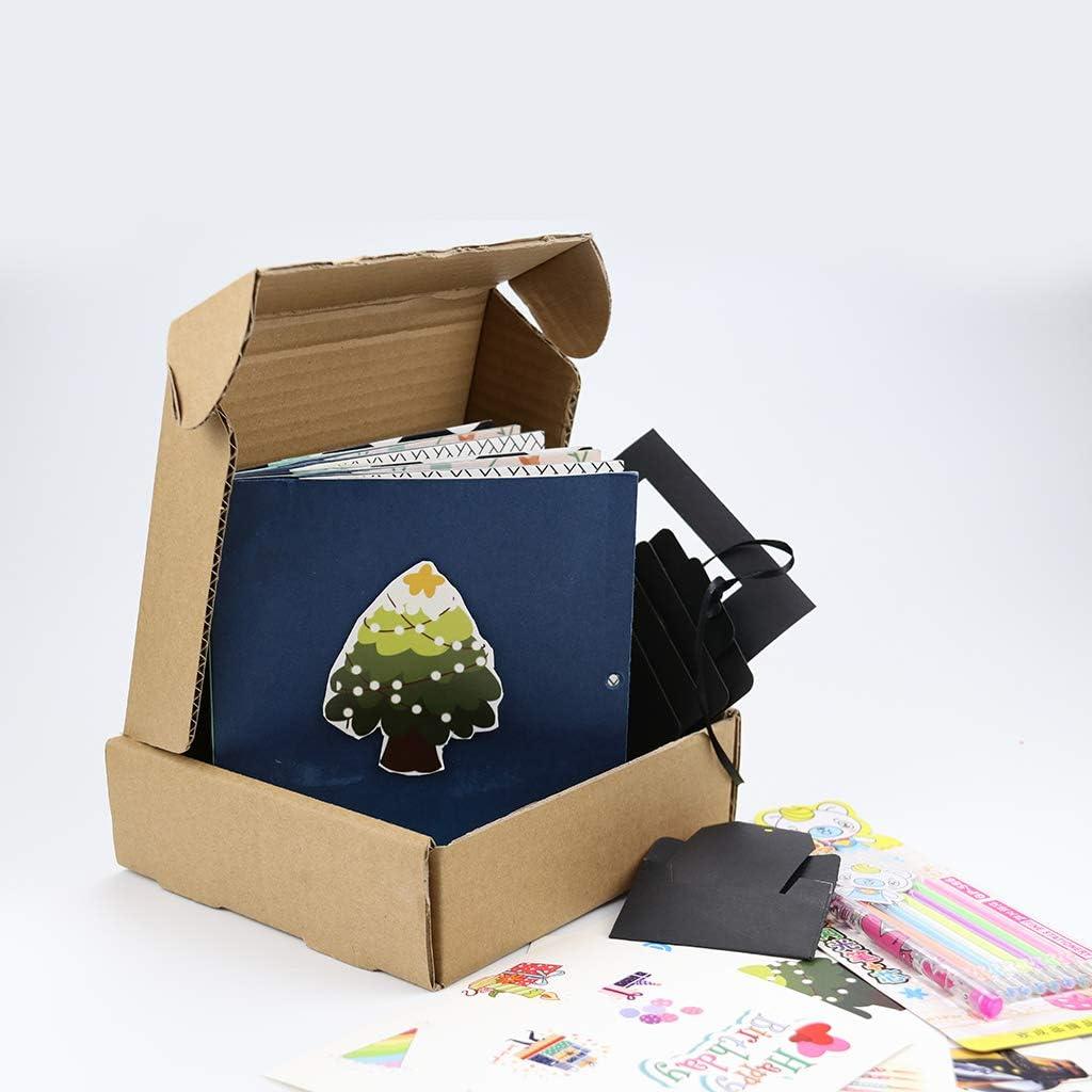 Christmas Scrapbook DIY Photo Album Suprise Box with More Than 18 Kinds DIY Accessories Kit Merry Christmas Gift Kicpot Christmas Explosion Box