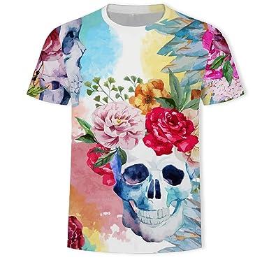 HCFKJ Camisetas Hombre Camiseta De Hombre Skull Camiseta Impresa ...