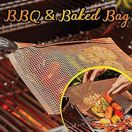 Amazon.com: THEMELEC – Bolsa antiadherente para barbacoa y ...