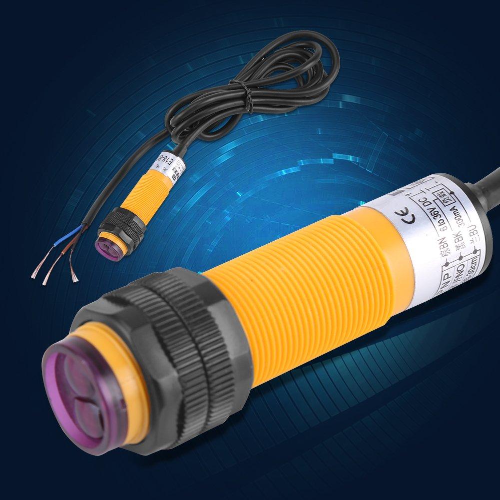 5-30cm DC 3 hilos 6-36V PNP Interruptor del sensor fotoel/éctrico IR E18-B03P1