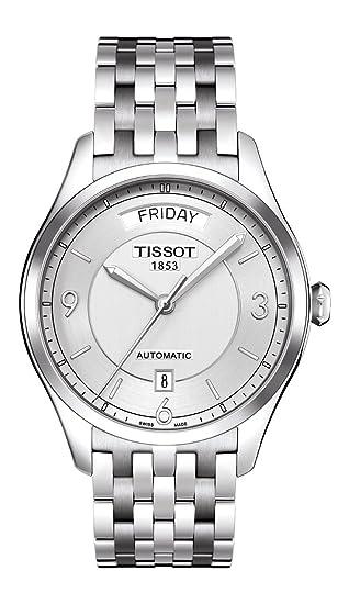 Tissot Reloj Analógico para Hombre de Automático con Correa en Acero Inoxidable T0384301103700