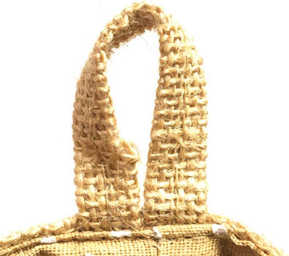 Punto Amarillo Vosarea Bolsa Colgante de Almacenamiento de Tela Yute Algod/ón Bolsa Colgante para Flor para Decoraci/ón de Pared Puertas del Hogar