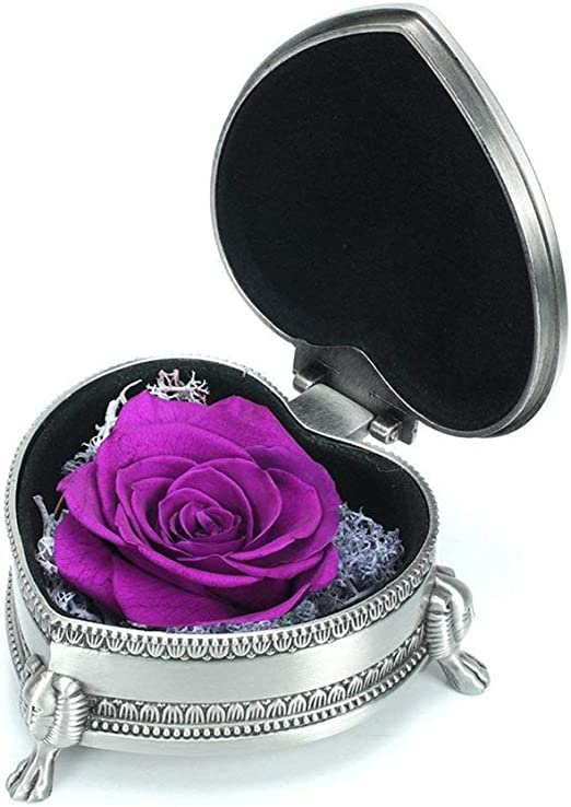 Floral Arrangement Flower gift Floral supplies Wedding decor Purple rose Home decor flowers High quality Dried preserved roses up to 4