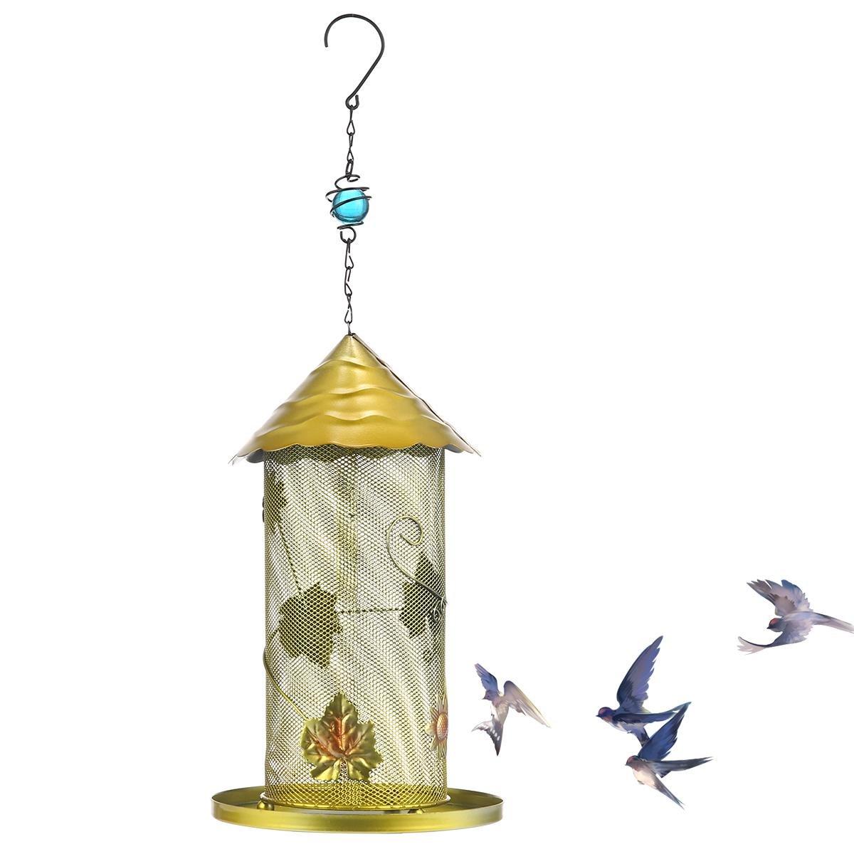 KOBWA Outdoor Bird Pet Feeder Waterer Garden Hanging Clear Type for Lovebird Bird Feeder Farming Equipment