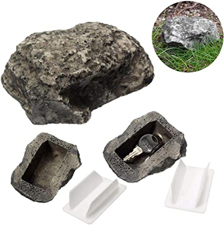 Stylelove Caja de Seguridad para Guardar Llaves de Barro para Exteriores con Caja de Piedra de imitación de Piedra: Amazon.es: Hogar