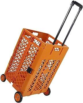 Caja de almacenamiento plegable con 4 ruedas para carrito de la ...