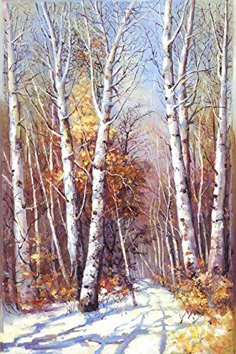 Perfect Effect Canvas ,the Beautiful Art Decorative Canvas Prints Of Oil Painting 'Landscape Painting: The Winter Forest', 10x15 Inch / 25x38 Cm Is Best For Powder Room Gallery Art And Home Gallery Art And Gifts (Top Chef Season 10 Dvd compare prices)