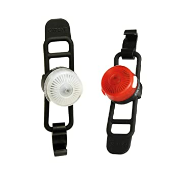 CATEYE Loop 2à l'avant/arrière de RC Rechargeable-sl-ld140rc Lampes et réflecteurs, cyclisme–Noir, pas de taille