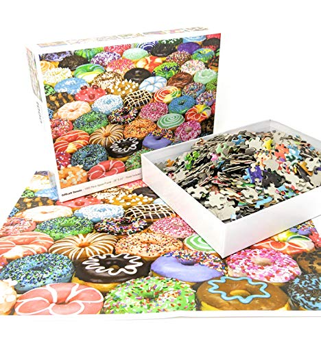 Difficult 1000-piece donuts puzzle