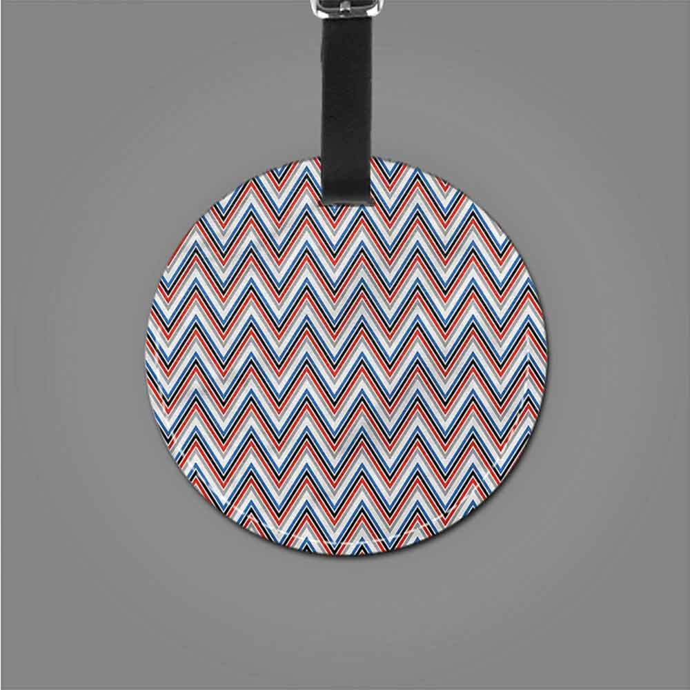 Favorite brand luggage tags Chevron,Geometric Triangle Motif Holder Travel Accessories