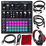 Novation Circuit Mono Station Paraphonic Analog Synthesizer and Sequencer with Closed-Back Headphones and Deluxe Accessory Bundle