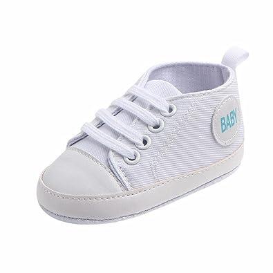 308b36b055dcb Bonjouree Chaussures Bébé Garçon Fille Basket Souple en Toile Anti-dérapant  (EU 12