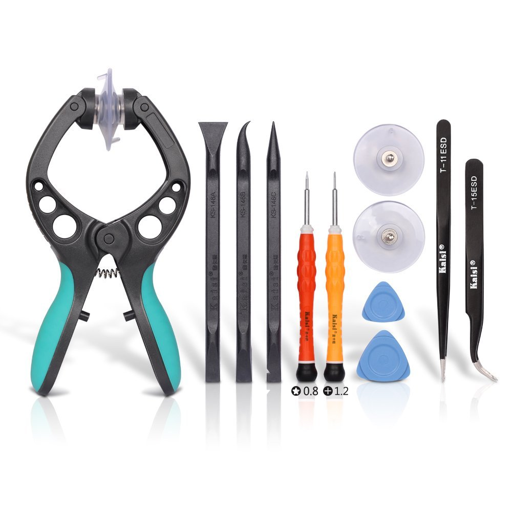 Kaisi Phone Repair Kits Opening Tools for Opening Cell Phone Screen and Shell, Repair Compatible Cell Phone, iPad, iPod, MacBook, Tablets, Laptops and More