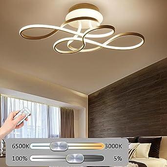 Kreativ LED Deckenleuchte Wohnzimmerlampe Moderne Designer Lampe Metall Acryl Geschwungener Optik Decke Leuchte Deckenlampe Innenraumlampe