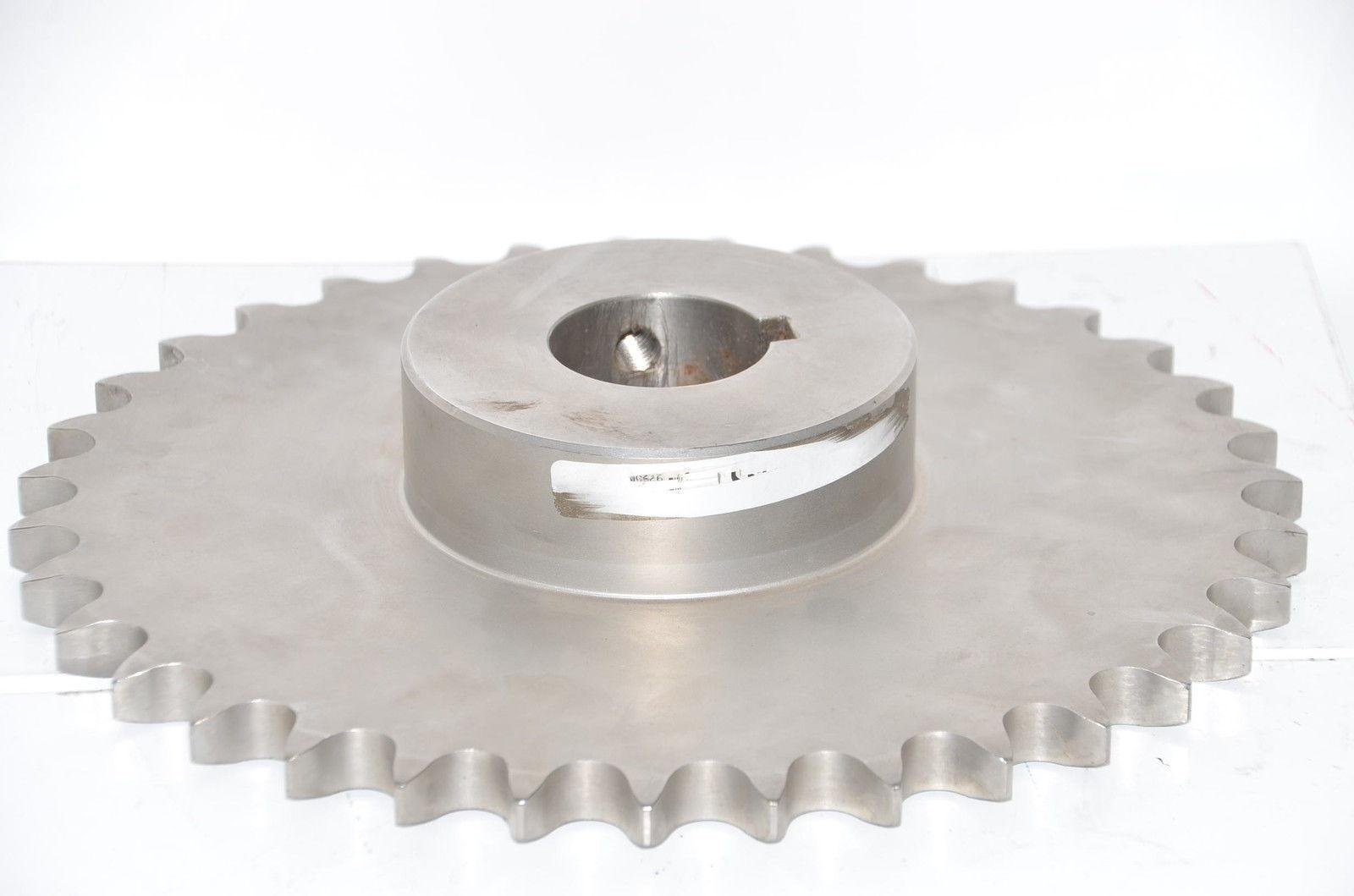Martin Sprocket & Gear 80B35SS Stock Bore Sprocket - 80 / 1 in 1-3/16'' Stainless