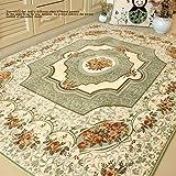 MZPRIDE European Rustic Room Mats Mediterranean Roses Bedroom Carpet Modern Large Rugs Green For Sale